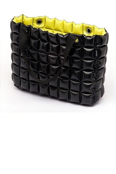 Black & Yellow Inflatable Reversible Tote Bag