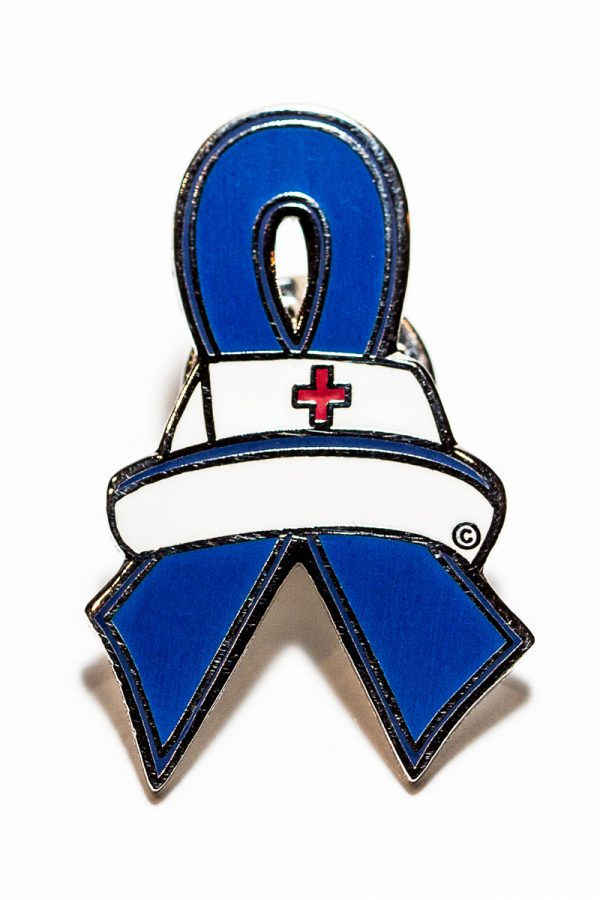 Nurse Blue Ribbon Pin
