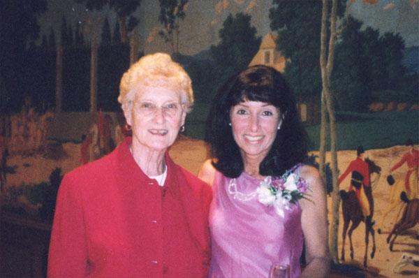 Karen MacDonald and her mother