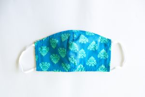 Ocean Blue & Mint Green Pattern Mask