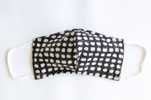 Black & White Polka Dot Facial Mask