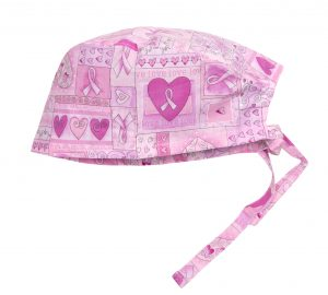 Breast Cancer Scrub Cap