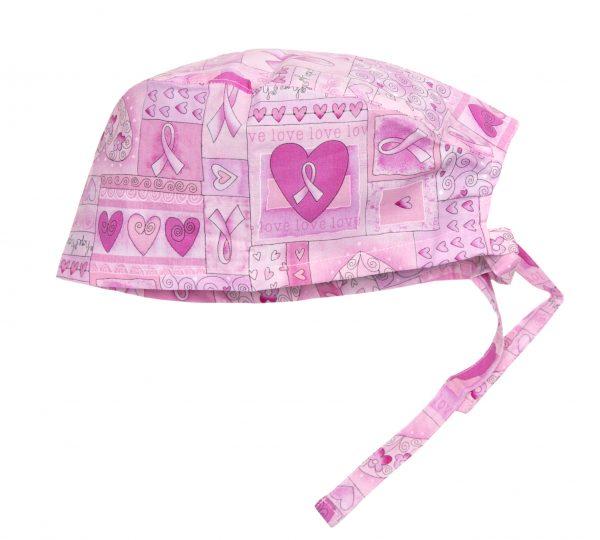 Breast Cancer Scrub Cap